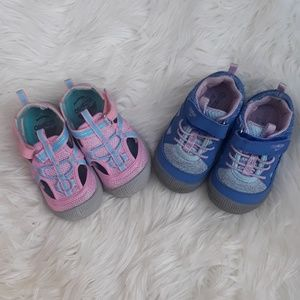 Oshkosh baby girl bump toe sneaker lot size 6